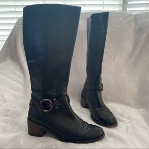 COACH Carolina Extended Leather Knee High Boots 9B